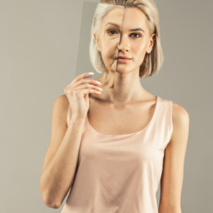 FH Manning Blog image - Woman holding a mirror showing herself in the future